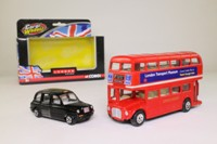 London Routemaster Bus & Taxi Set