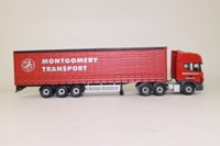 Corgi Classics CC12916; Scania Topline; Curtainside Trailer, Montgomery Transport