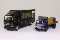 Corgi Classics 59565; Guinness Past & Present Set; Volvo Curtainside & Commer Flatbed with Load