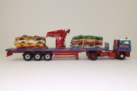 Corgi Classics CC11910; ERF EC Artic; Flatbed Crane Trailer, Brian Harris Transport, Crushed Car Load