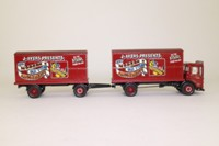 Corgi Classics 97893; AEC Ergomatic Cab; 4 Wheel Box Van & Trailer; J Ayers Amusements