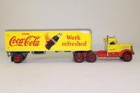Matchbox Collectibles; 1939 Peterbilt Conventional; Box Trailer, Coca-Cola