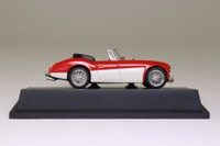 Atlas Editions 4 656 105; 1963 Austin Healey 3000 MkIII; Red & Off White