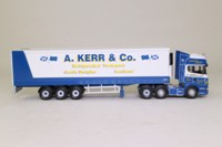 Corgi Classics CC18105; Scania R Cab Artic, 1:76 Scale; Fridge Trailer; A Kerr & Co