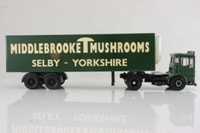 Corgi Classics Code 3; AEC Ergomatic Cab; Articulated Refrigerated box trailer: Middlebrook Mushrooms