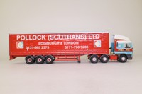 Corgi Classics 75205; ERF EC Artic; Curtainside: Pollock Scotrans Ltd
