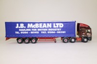 Corgi Classics CC11906; ERF EC Artic; Curtainside: JB McBean Ltd