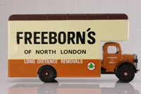Corgi Classics 97086; Bedford O Series Pantechnicon; Freeborns; Brown / Cream