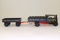 Corgi Classics CC20202; 1925 Foden C Type Steam Lorry; Dropside & Trailer, Openshaw Brewery, Barrels Load