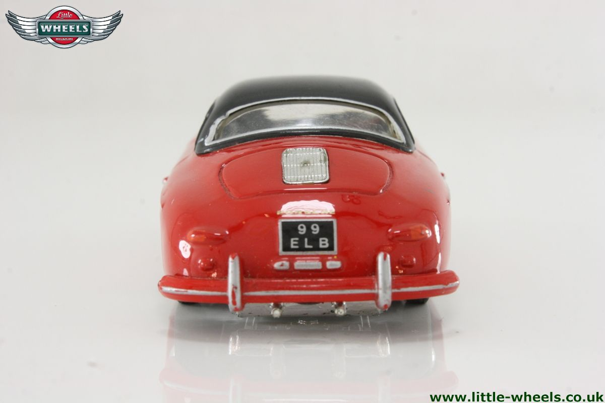 D741 1 Porshe 356a Speedster Red Body Black Hard Top