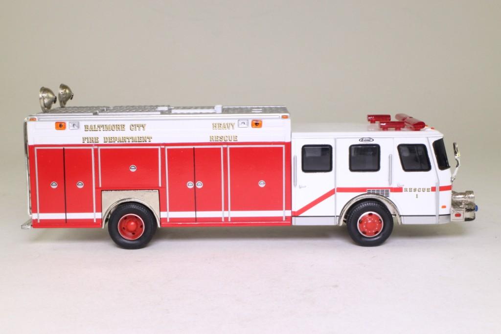 Corgi 52206 E One Heavy Rescue Fire Truck Baltimore City