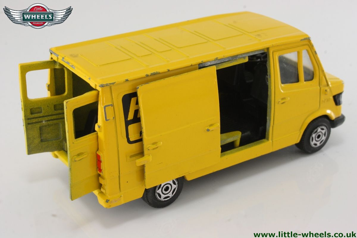 mercedes benz van 207d yellow herz truck rental